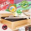 Zvýšená postel DELUXE 2 ÚP s matracemi SARAH BGF lak 60 ořech