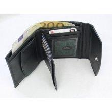 s klopnou dámská kožená peněženka černá