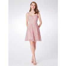 2b84c27670f Ever-Pretty krajkové šaty se širokými ramínky EP04038PK růžová