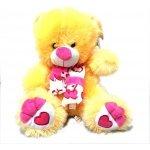 Valentýnský Medvěd Petříček 30 cm růžová