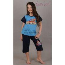 dětské pyžamo kapri Formule 38 1002 tmavě modrá tyrkysová