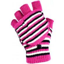 76904772342 Banasport dámské bezprsté pletené rukavice tmavě růžová