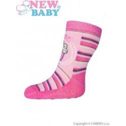 New Baby ponožky s ABS růžové s proužky a dortem od 24 Kč - Heureka.cz da1ac35c57