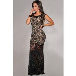 d96049b42f5 Dámské šaty LM moda krásné dlouhé krajkové šaty 6350 černá