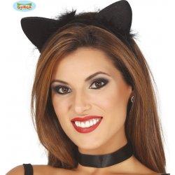 Karnevalový kostým Kočičí uši na vlasové sponě 6776ace811