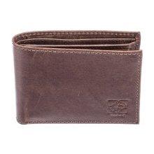 Kubát Pánská kožená černá peněženka Kůže 70142