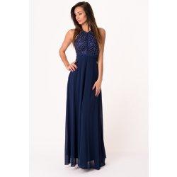 84d19fbf5f2 Eva   Lola dámské společenské šaty bez rukávů dlouhé tmavě modrá ...