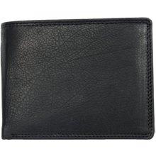 Kožená klasická černá peněženka s rozvírací kapsičkou na mince
