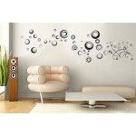 IMPOL TRADE WS089 Samolepky na zeď abstraktní kolečka, rozměr 50 x 70 cm