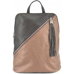 Arteddy kožený batoh a kabelka v jednom hnědá tmavě hnědá ... 6e87fd6d10d