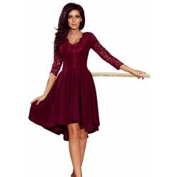 866d03bc46ef Dámské šaty s asymetrickou sukní Nicolle vínová od 1 099 Kč - Heureka.cz