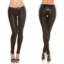 b8bc764e630 Dámské koženkové kalhoty Koucla černé