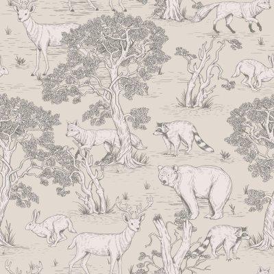 Dekornik Tapeta na zeď Animals Natural, 100x280 cm