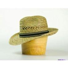 Karpet pánský klobouk slaměný s černobílým páskem