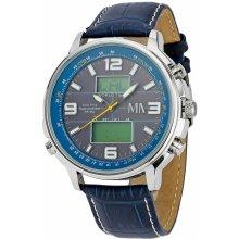 Meister Anker Worldtimer Solar Chronometr modrá