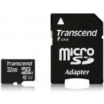 Transcend 32GB microSDHC UHS-I U1 + adaptér TS32GUSDU1