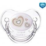 Canpol Newborn baby šidítko silikonové třešinka 6 Béžové