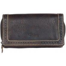 Prostorná celokožená peněženka Pedro z bytelné přírodní kůže