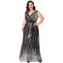 305e53d06a5d CityGoddess dlouhé šifonové šaty plus size DR1437P-BLACK černá