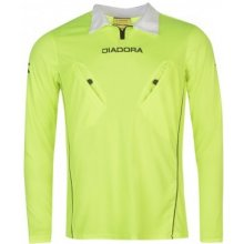 Diadora Montreal Long Sleeve Referee Shirt Mens Yellow