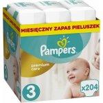 Pampers Premium Care 3 MIDI 204 ks 5-9 kg