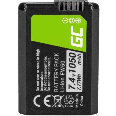 Baterie Green Cell Sony Alpha A7, A7 II, A7R, A7R II, A7S, A7S II, A5000, A5100, A6000 1050mAh Li-ion - neoriginální