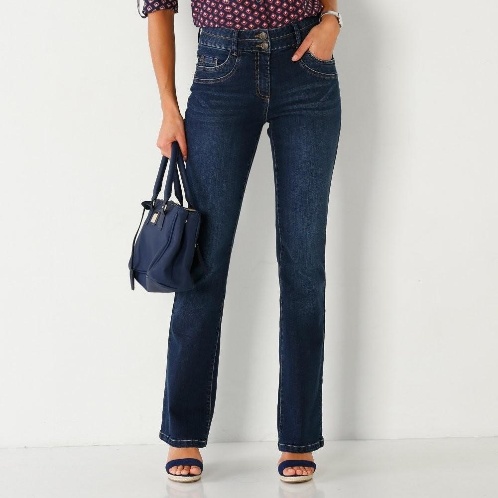 Blancheporte Strečové bootcut džíny v opraném vzhledu tmavá modrá od 429 Kč  - Heureka.cz 310940c032