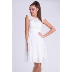 EMAMODA krátké společenské šaty s krajkovým vrškem bílá od 1 449 Kč ... b2cb10c81b