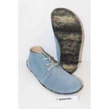 Be Lenka Lenka Barefoot kotníčkové kožené boty - modré f3cab31033