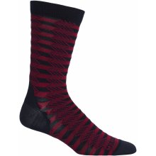 Icebreaker Mens Lifestyle Ultra Light Crew Slopes, Admiral/Oxblood