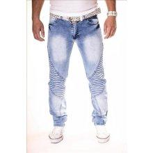 KC-1981 kalhoty pánské 3119 jeans džíny prošívané