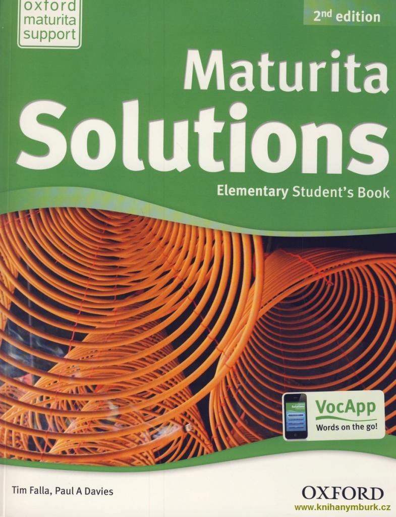 Maturita Solutions 2nd Edition Elementary Student U00b4s Book