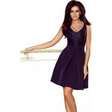 8db30847a224 Dámské společenské šaty bez rukávů se skládanou sukní tmavě modrá