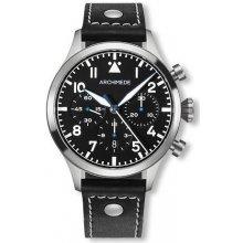 Archimede Pilot Chronograph Tricompax - kovový náramek