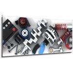 WEBLUX Obraz 1D panorama - 120 x 50 cm - Car parts Autodíly