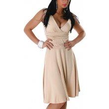 Jela London dámské šaty bez rukávů s výstřihem béžová bc565f06a1