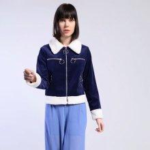 Glamorous manžestrová bunda tm.modrá