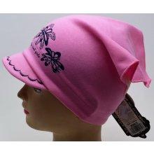 4c83b734f7d RDX dívčí šátek s kšiltem 2868 Květy světle růžová