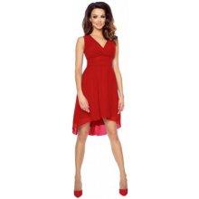f2c0f8b0fe7 Kartes krásné šifonové šaty bez rukávu s asymetrickou sukní KM154-1 červená