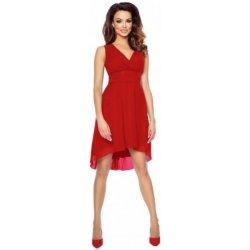 c066b9a11e9c Kartes krásné šifonové šaty bez rukávu s asymetrickou sukní KM154-1 červená