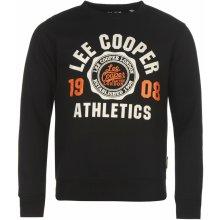 Lee Cooper Crew s logem Sweater pánské Black