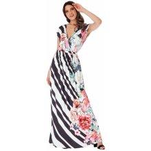 CityGoddess společenské šaty Floral černá f4fc9f4099