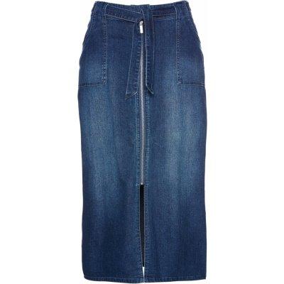 Bonprix BPC SELECTION riflová sukně modrá