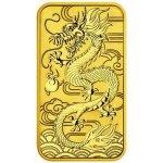Perth Mint 2018 Zlatá obdélníková mince 1 Oz Drak