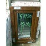Okno 50x80 zlatý dub