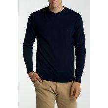 Gant Pánský svetr FINE MERINO CREW modrá