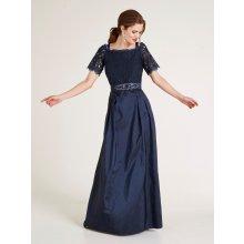 8aaad518766 heine TIMELESS večerné šaty s krajkou indigová modrá