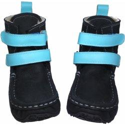 1771bb7211 ZeaZoo Yeti Waterproof leather Sheepskin Black Light Blue. Zimní barefoot  boty ...