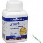 MedPharma Zinek 15 mg 107 tablet