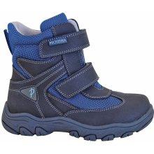 f25fccd4216 Protetika Chlapecké zimní boty Hasko - šedo-modré